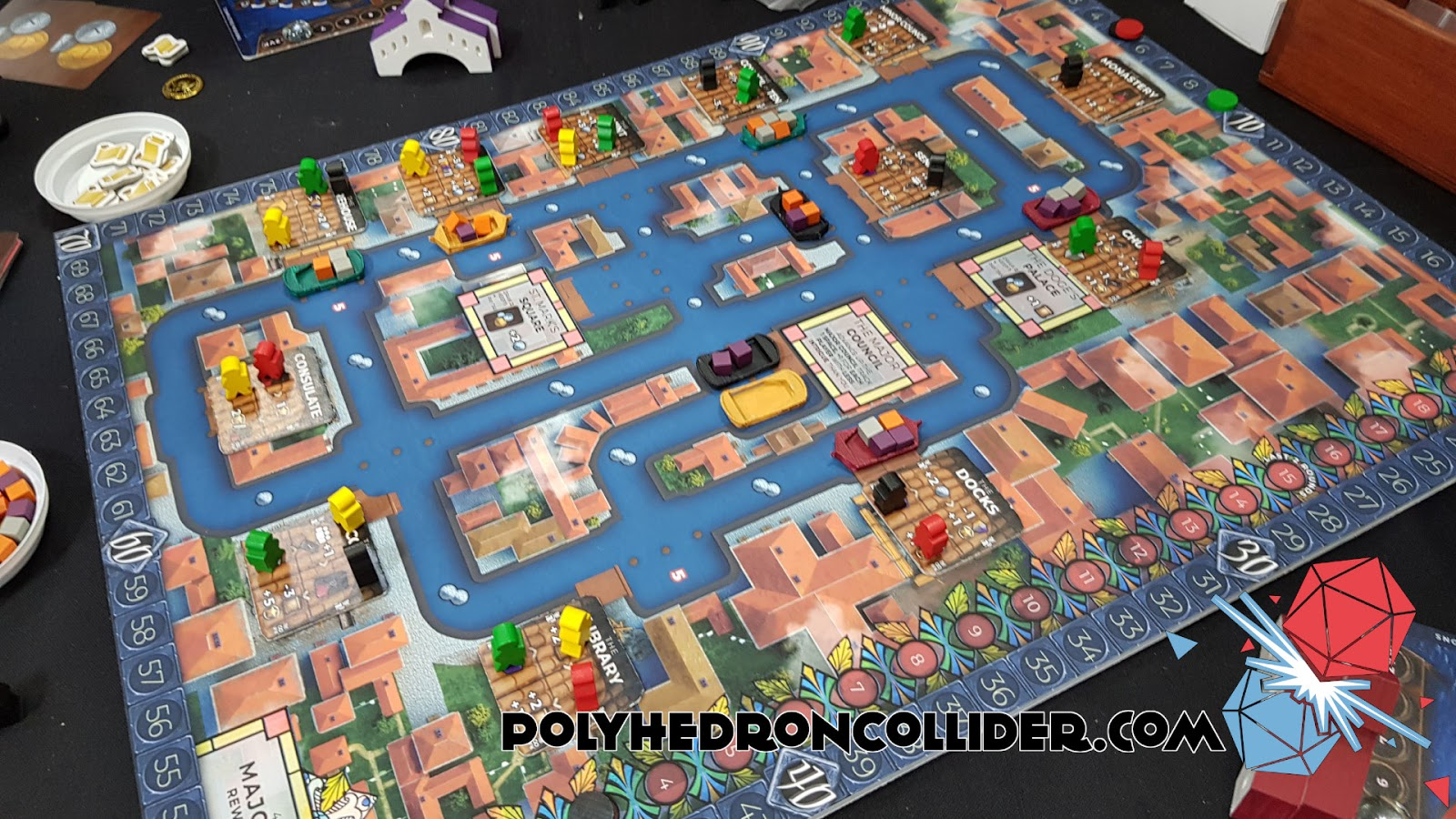 Kickstarter Highlight Venice Board Game in play 2 at UK Games Expo