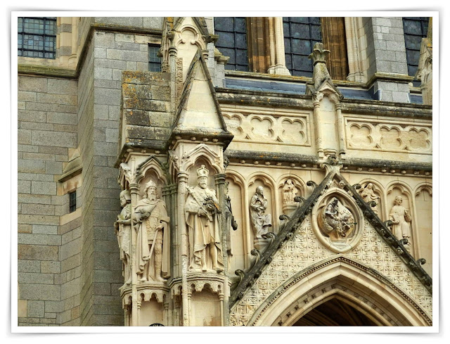 Detail of Truro Cathedral, Cornwall