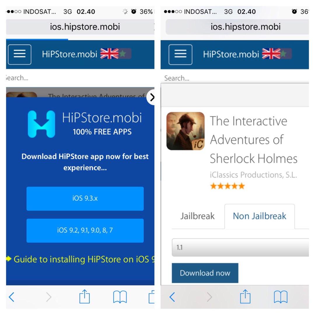 5 situs download aplikasi berbayar jadi gratis di iphone No JB | All