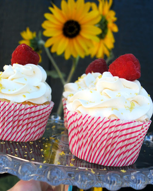 Raspberry Lemon homemade Cupcakes