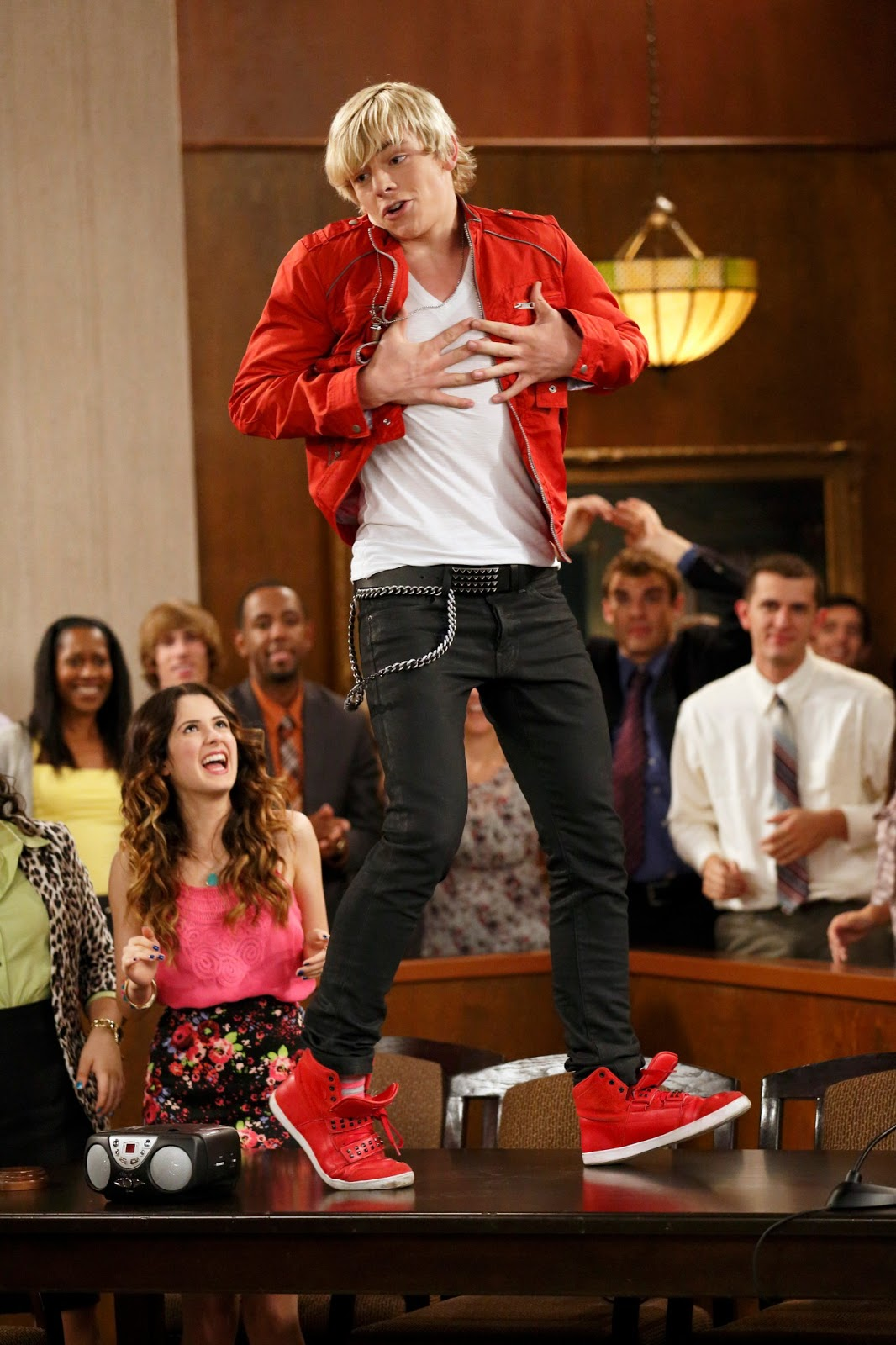 Ross Lynch Red Shoes