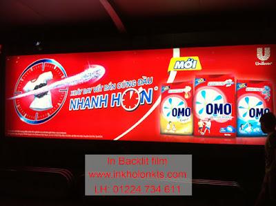 In Backlit film hộp quảng cáo ngoài trời