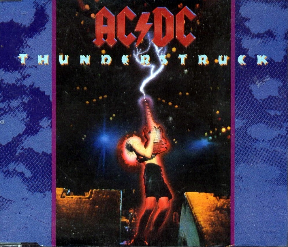 Portada del single Thunderstruck de AC/DC