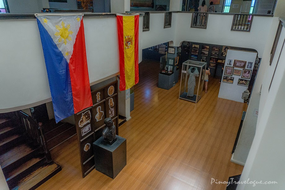 Museum's balcony where Philippine and Spanish flags are hung