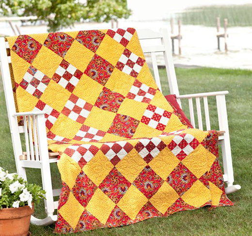 Summer Salsa Quilt Free Pattern Designed by Kathie Holland for All People Quilt