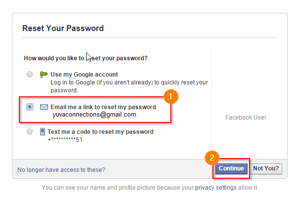 To facebook password reset need How To