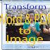 Cara Menyimpan File JPEG atau file Gambar dari MS Word dan PDF