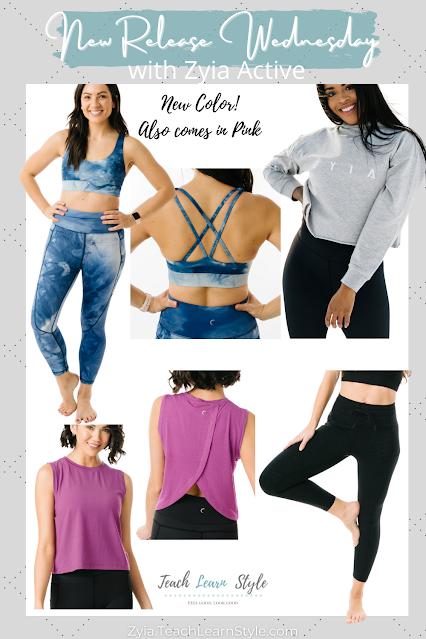 zyia active new release wednesday, zyia activewear, shop zyia active, zyia active rep, zyia tie-dye leggings, zyia leggings, zyia shorts