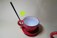 Tasse, Untersetzer und Stock: Porzellan Teekannenservice von Original First Tea (Rot)