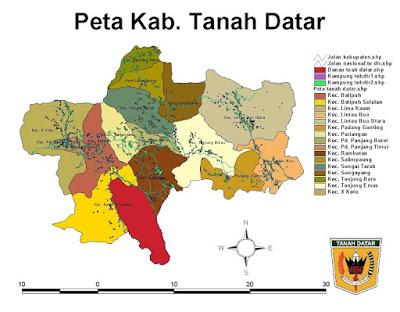 peta kabupaten tanah datar anakminang.com
