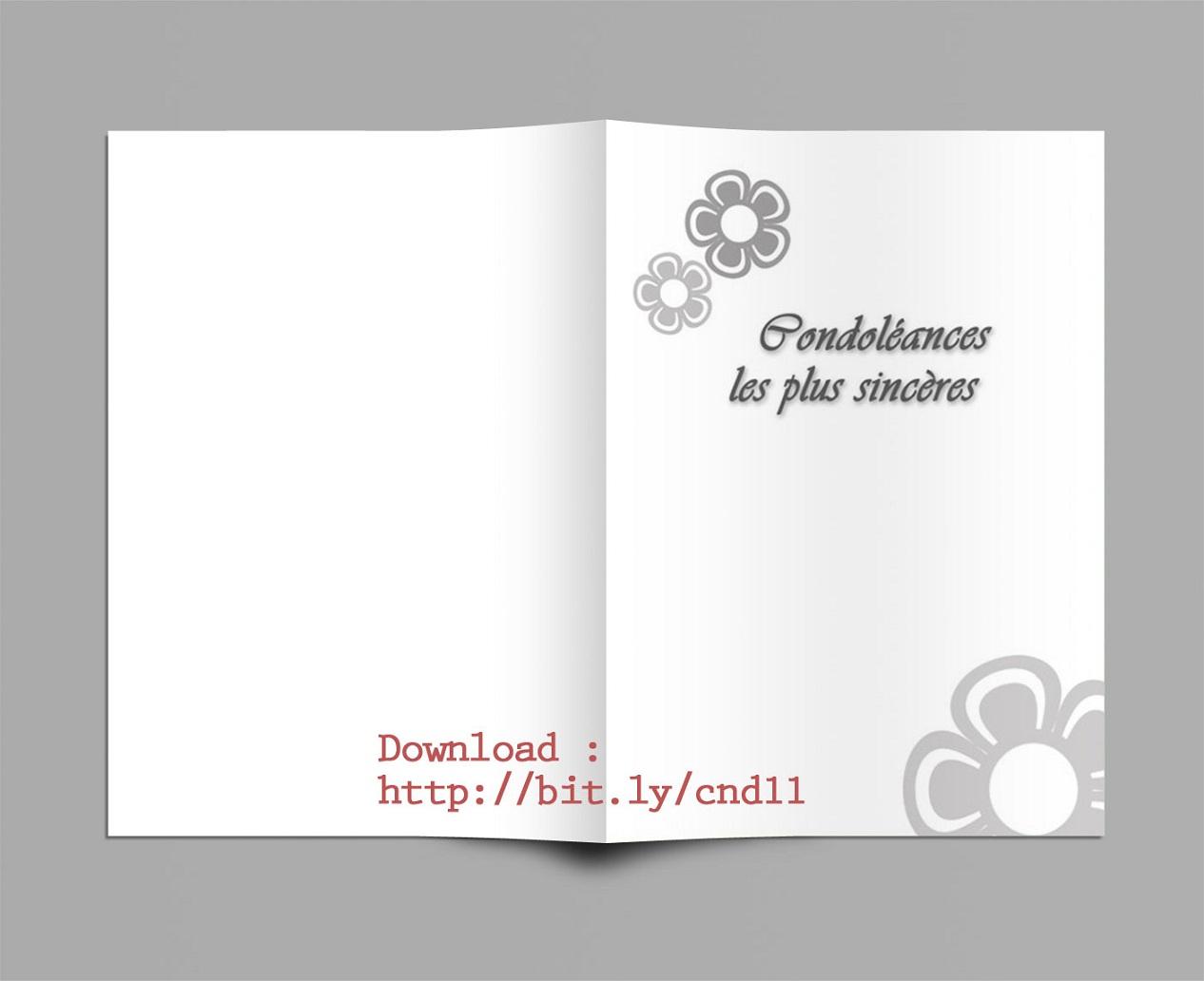 Hervorragend Carte pour Message de Condoléances Gratuitement Telecharger YV18