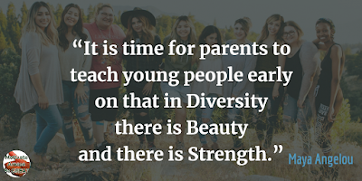 "Quotes About Strength And Motivational Words For Hard Times: ""It is time for parents to teach young people early on that in diversity there is beauty and there is strength."" - Maya Angelou"