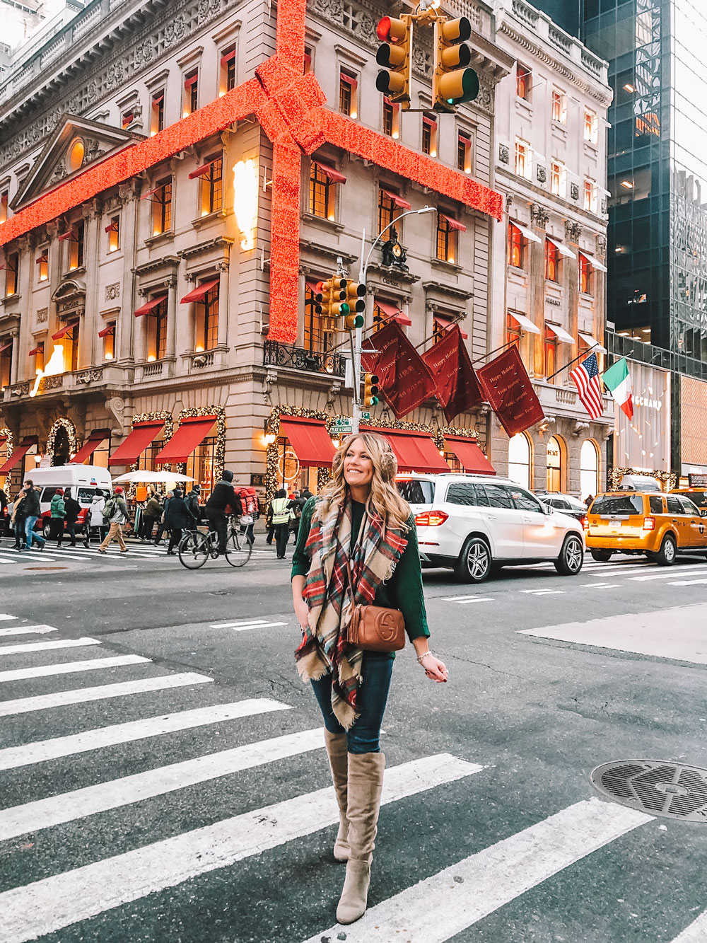 Most Instagrammable Spots in NYC: 5th Avenue Christmas Storefronts