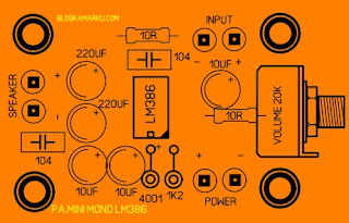 lm386 audio amplifier lay out PCB