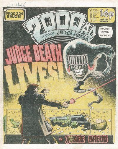 2000 AD Prog 224, Judge Death Lives!
