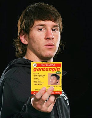 Messi Promosi Obat Ganteng