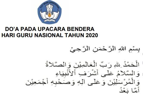 Do'a Pada Upacara Bendera Hari Guru Nasional 2020