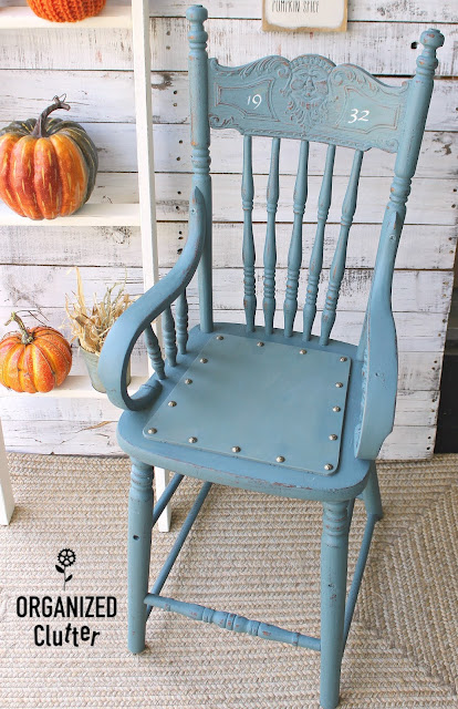 Garage Sale Antique High Chair Upcycle with Milk Paint
