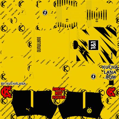 Borussia Dortmund BVB Puma Kits 2020/21 - DLS21 Kits