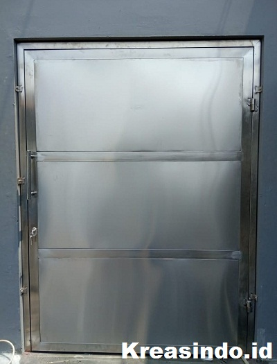Daftar Harga Pintu Panel Besi, Pintu Rumah Besi, Pintu Emergency dan Pintu Studio Bahan Besi atau Stainless