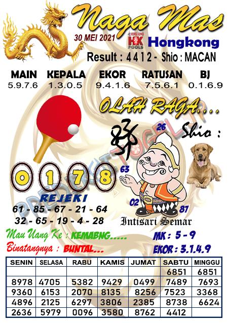 Syair Nagamas HK Minggu 30 Mei 2021