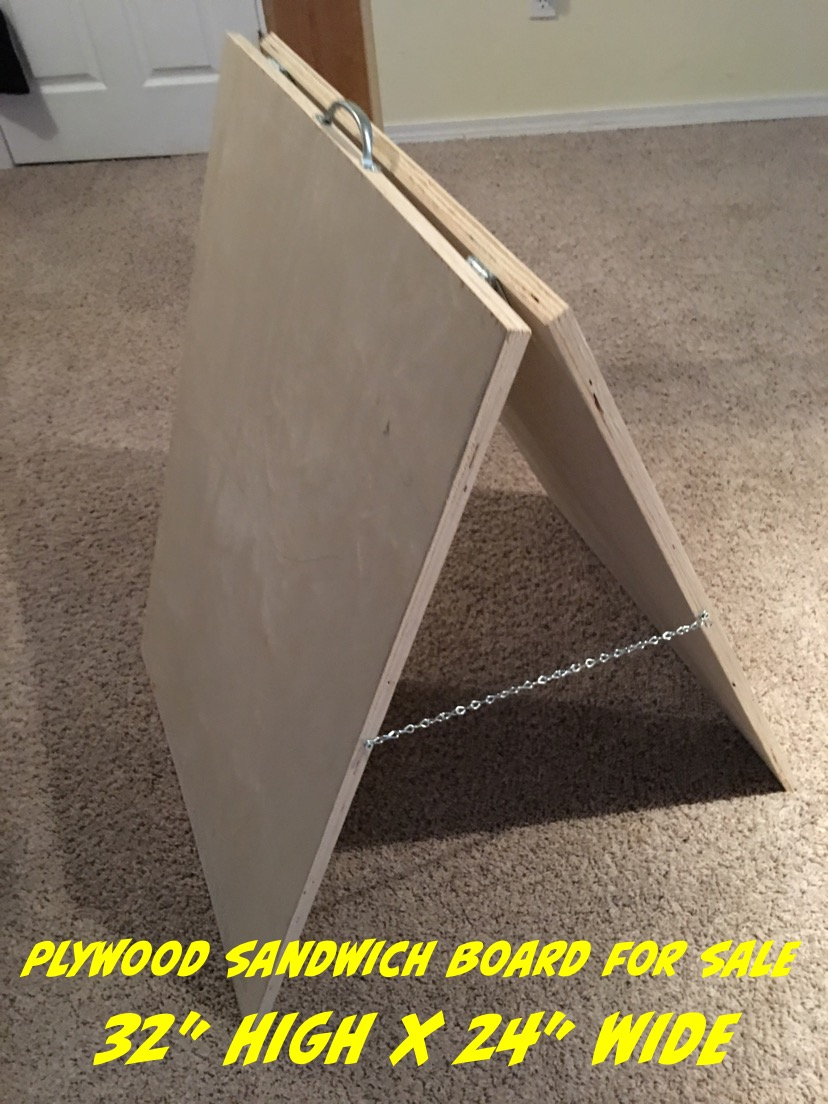 Large Plywood Sandwich Boards For Sale $75