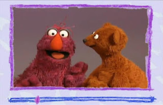 Elmo got e-mail from his friends Baby Bear and Telly. Sesame Street Elmo's World Hands Video E-Mail