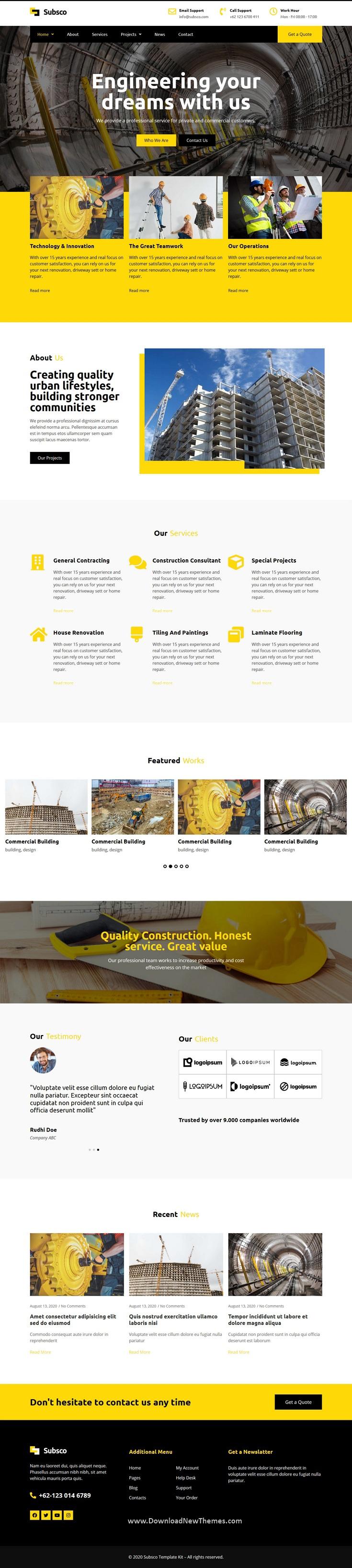 Construction Company Template Kit