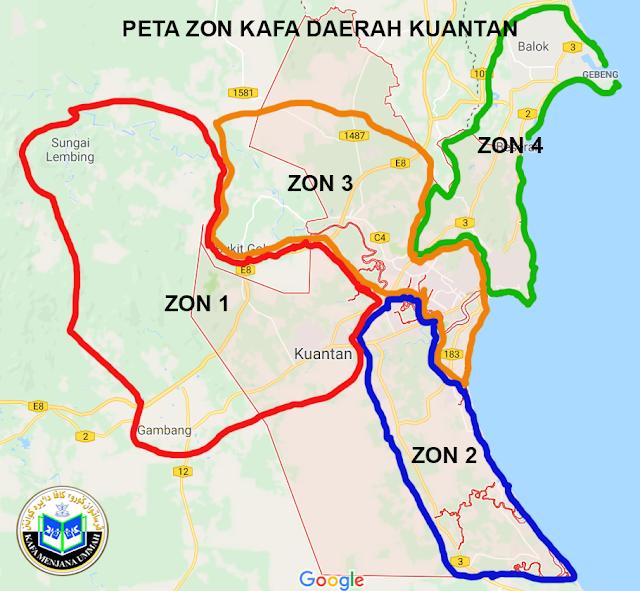PETA ZON 2 KUANTAN