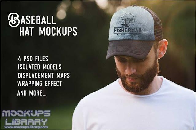 PSD Hat Mockup Baseball
