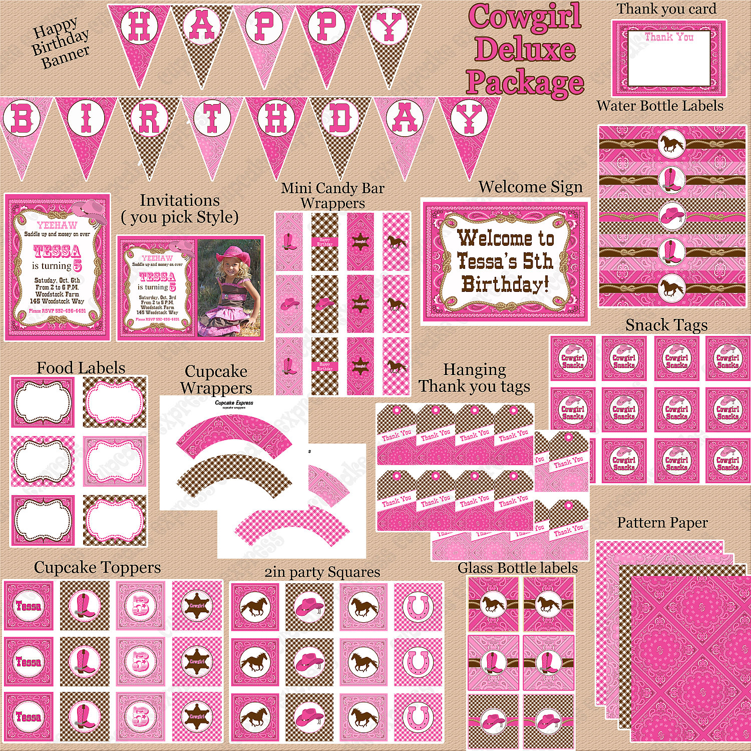 tessa s cowgirl birthday party. Black Bedroom Furniture Sets. Home Design Ideas