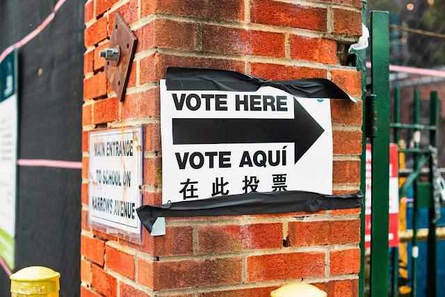 ukazatel místa prezidentských voleb v NYC