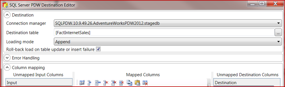 Microsoft Business Intelligence: Creating PDW Connection in SSIS