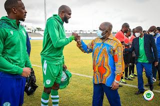 «Au nom de la Nation, je vous exprime toutes mes félicitations pour ce beau match...»