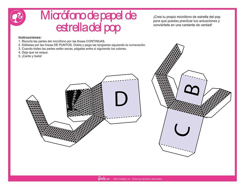 Micrófono en papercraft