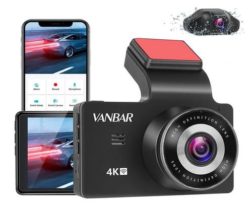 VANBAR C100 Dual Dash Cam 4K Car Dash Camera