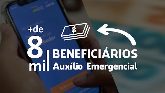 MAIS DE 8 MIL BENEFICIÁRIOS DO AUXÍLIO EMERGENCIAL EM PANELAS/PE