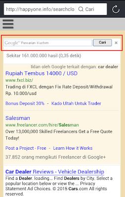 Pencarian Kustom Google Adsense