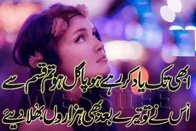 whatsapp status on life 2017 poetry in urdu sad abi tak yaad kar rahe ho pagal ho tum qasam se