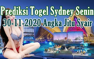 Bocoran Togel Sydney 30 November 2020