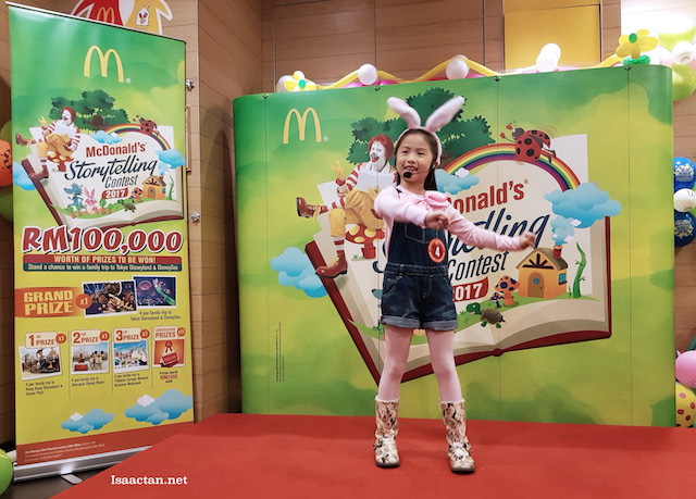 Now here's a really good cute little girl, lots of expression and actions, contestant #4