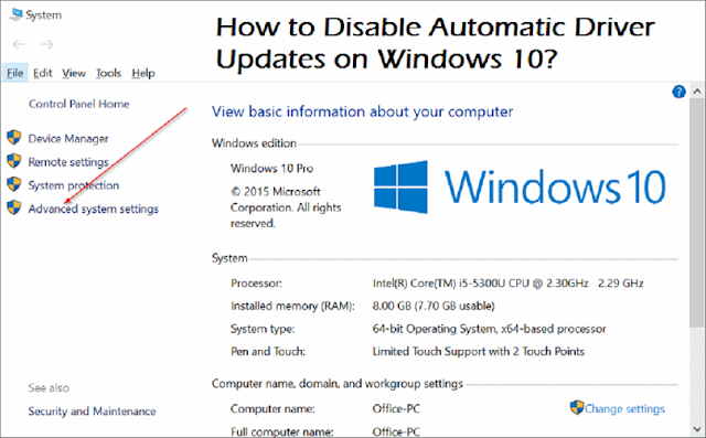 How to Disable Automatic Driver Updates on Windows 10?