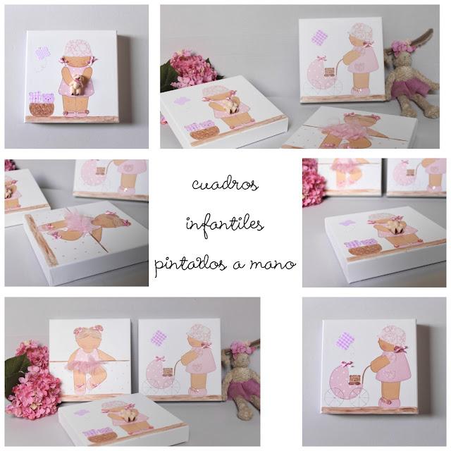 cuadros infantiles personalizados y pintados a mano