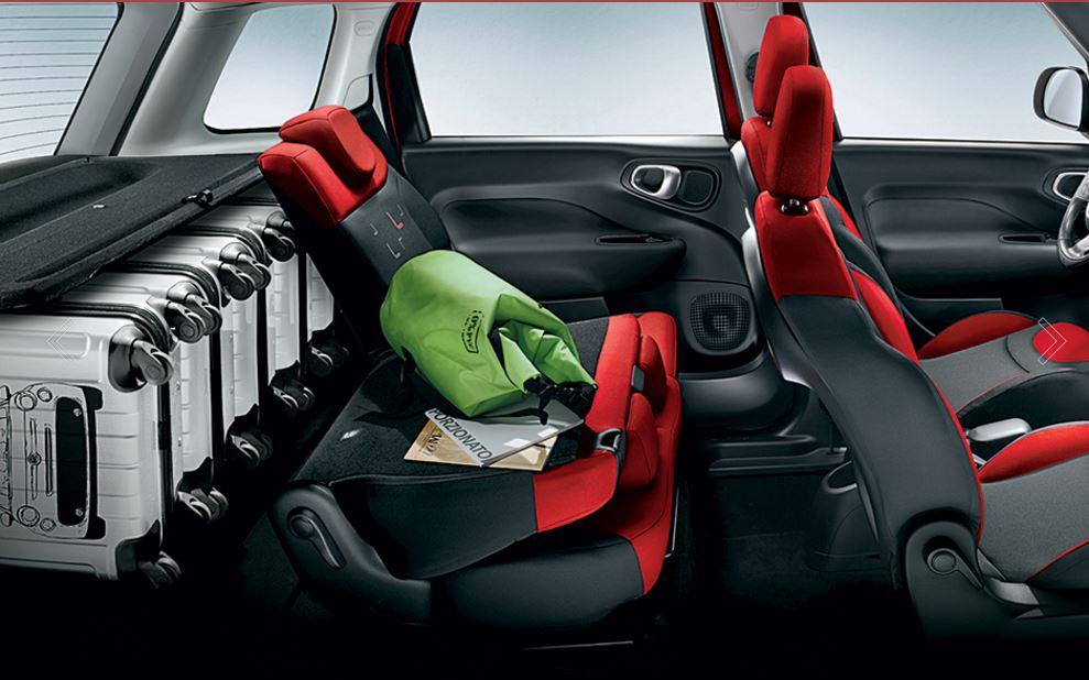 Bagagliaio Fiat 500L: capacità volumetrica in litri