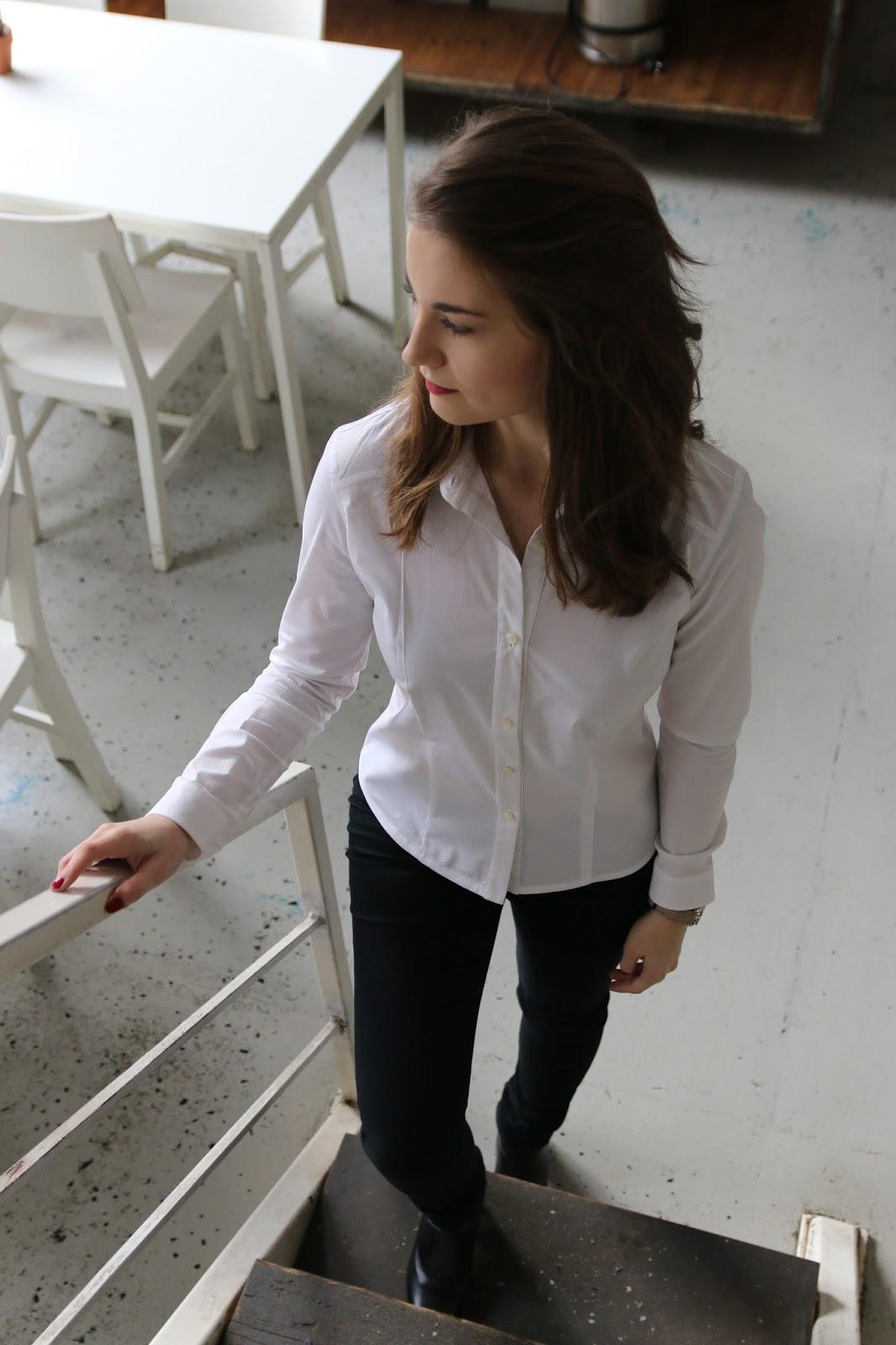 biała koszula stylizacja