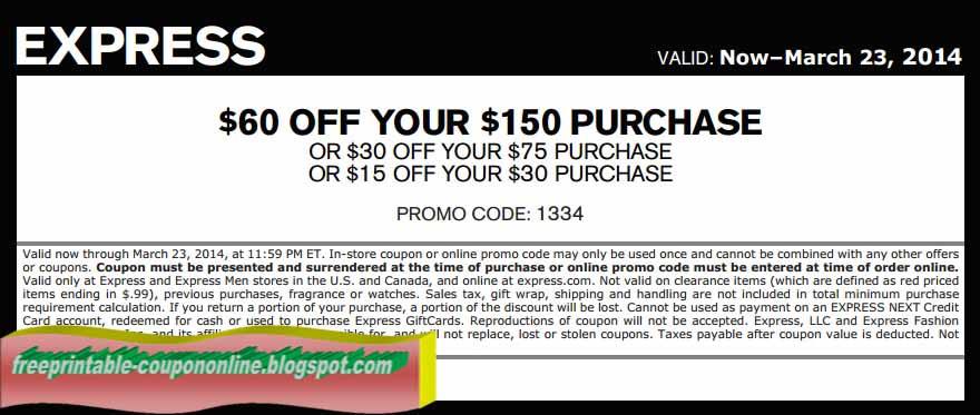 Express coupon code april 2019