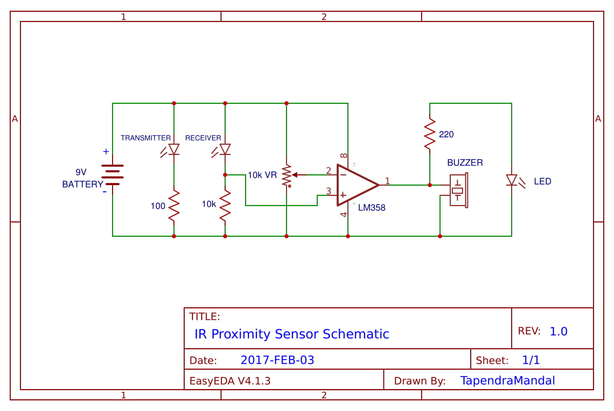 How To Make Object Detecting Sensor Using Ic Lm358 Step By Circuit Diagram Water Level Indicator