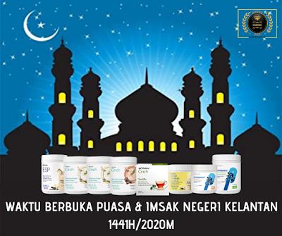 Waktu Berbuka Puasa & Imsak Negeri Kelantan Tahun 2020
