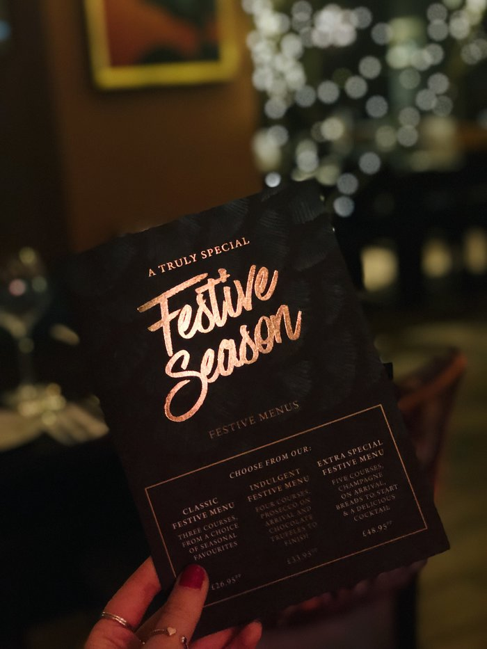 A review of The Riverside Bournemouth's three course festive menu.