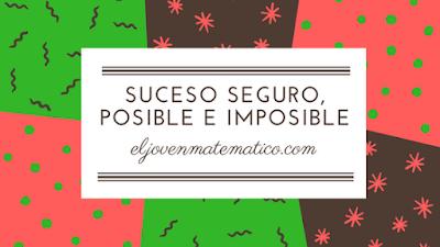 Suceso seguro, posible e imposible